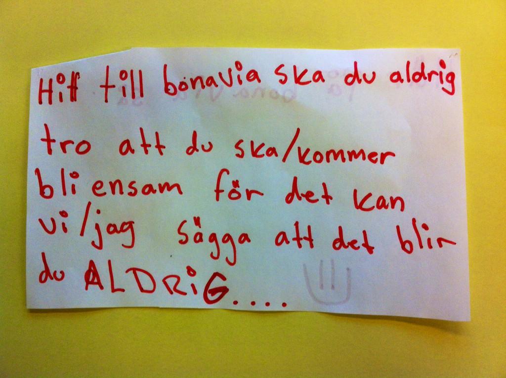 Barnen skriver